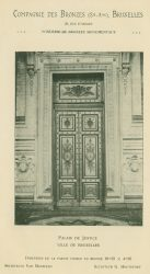 Compagnie des Bronzes_Bronzes Monumentaux_v1914_Page 28_Porte du Palais de Justice – Ville de Bruxelles