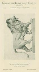 Compagnie des Bronzes_Bronzes Monumentaux_v1914_Page 32_Lion de la Colonne du Congrès – Ville de Bruxelles