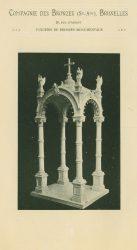 Compagnie des Bronzes_Bronzes Monumentaux_v1914_Page 31_Baldaquin en bronze pour l'Église de la Guadalapa à México – vue de biais