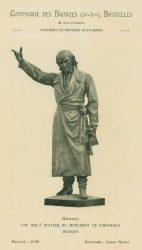 Compagnie des Bronzes_Bronzes Monumentaux_v1920_Page 15_Hidalgo – Une des cinq statues du monument de Chihuahua – Mexique
