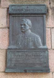 Plaque Maurice Van Meenen – Hôtel de Ville de Saint-Gilles