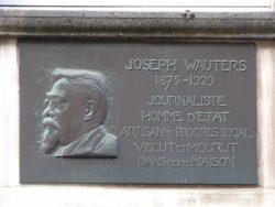 Plaque Joseph Wauters – Rue Général Mac Arthur – Uccle