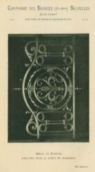 Compagnie des Bronzes_Bronzes Monumentaux_v1920_Page 41_Grille de fenêtre exécutée pour le Corpo de Bombeiros – Rio Janeiro