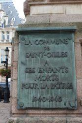 Plaque commémorative 40-45 – Hôtel de Ville de Saint-Gilles