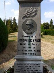 Stèle Joseph De Vries – cimetière – Anderlecht