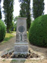 Stèle Jean Van Lierde – cimetière – Anderlecht