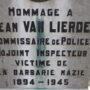 Stèle Jean Van Lierde - cimetière - Anderlecht - Image2