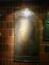 Plaque commémorative 1914-1918 – gare – Brugge (Bruges)