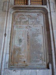 Plaque commémorative 1914 – 1918 – Brugge (Bruges)