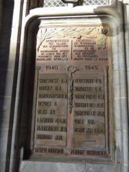 Plaque commémorative 1940 – 1945 – Brugge (Bruges)