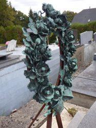 Couronne funéraire – cimetière – Gougnies (Gerpinnes)