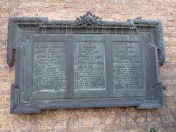 Plaque commémorative 1914 – 1918– Ieper (Ypres)