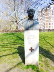 Buste de Henri Dunant – square de la Croix-Rouge – Ixelles