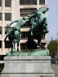 La Lutte équestre – Avenue Louise – Bruxelles