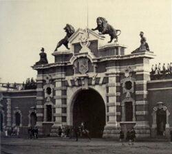 Lions – Porte de Malines – Antwerpen (Anvers) (ensemble disparu)