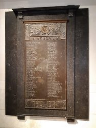 Plaque commémorative 1914-1918 – Ancienne Gare – Schaerbeek