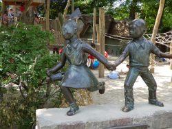 Statuettes de Suske et Wiske – Jardin zoologique – Antwerpen (Anvers)