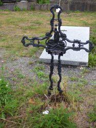 Croix funéraire – cimetière – Tourpes (4)