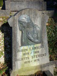 Bas-relief – sépulture Lambert-Stevens – Watermael-Boitsfort