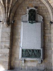 Plaque commémorative au régiment irlandais – Mons