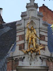 Statue de Saint Michel – rue Saint-André – Bruxelles